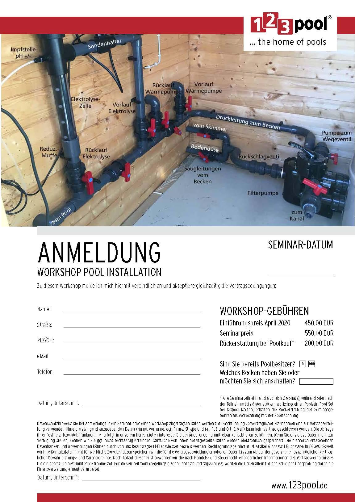 Anmeldung Workshop